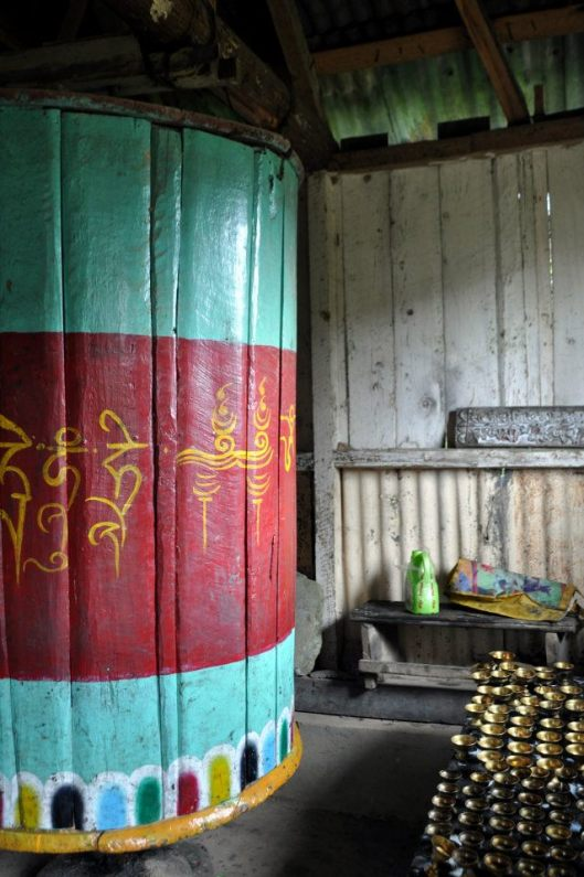 Prayer wheel at the monastery